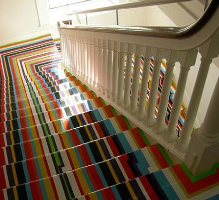 Escaleras de colores - Como decorar una escalera interior ...