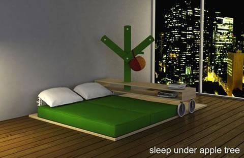 Habitación minimalista inspirada en isaac newton