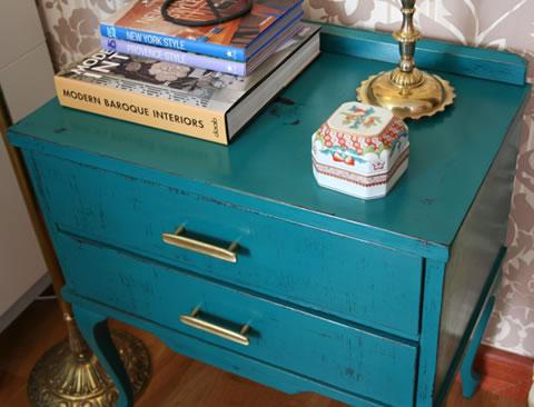 Paso a paso para restaurar una mesa de noche estilo vintage - Pintar muebles estilo vintage ...