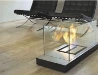 imagen Una chimenea de cristal