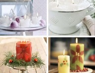 imagen Ideas de decoración navideña con velas