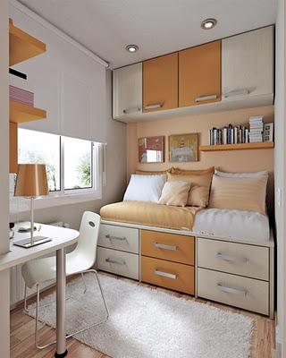 Habitaciones atemporales - Dormitorios con poco espacio ...