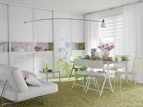 Apartamentos femenino y muy delicado en su decoraci n for Muebles para decorar departamentos pequenos