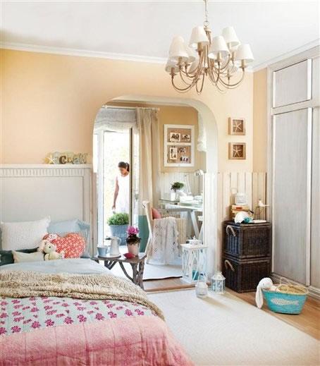 Una habitaci n con una decoraci n encantadora - Habitacion estilo vintage ...