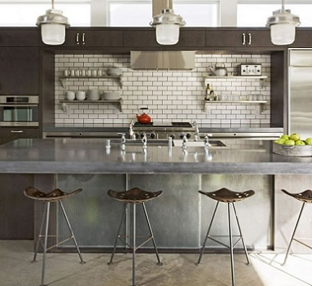 Cocinas de estilo industrial for Como hacer una mesa estilo industrial