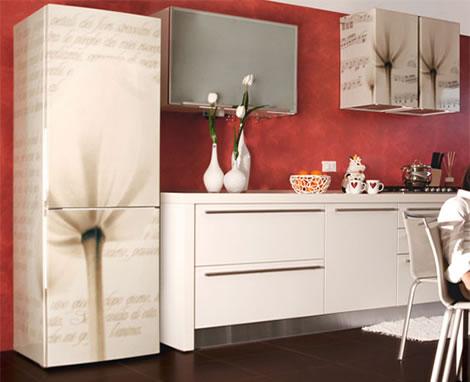 Vinilos para decorar tu nevera for Vinilos decorativos para muebles