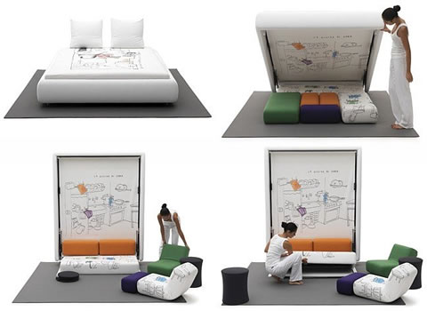 Muebles multifuncionales Mobiliario para espacios reducidos