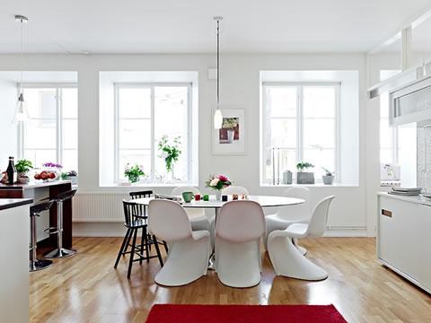 Una casa decorada al estilo escandinavo moderno for Casas estilo nordico