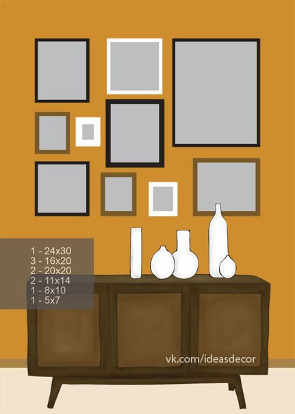 8 ideas para decorar con cuadros y fotos - Decorar pared con cuadros ...