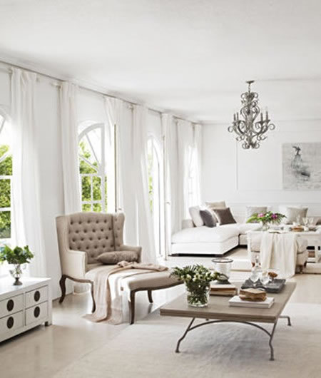 Estilo r stico en mesas de centro - Como limpiar paredes blancas ...
