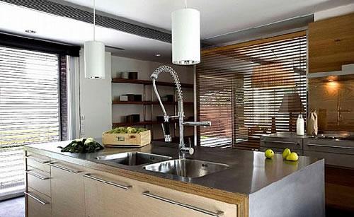 Madera y aluminio para tu cocina - Cocina aluminio ...