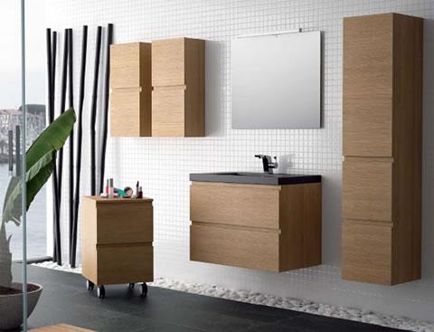 Muebles de baño anclados a la pared