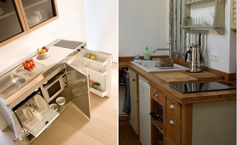 3 tips para maximizar el espacio for Muebles de cocina para espacios reducidos