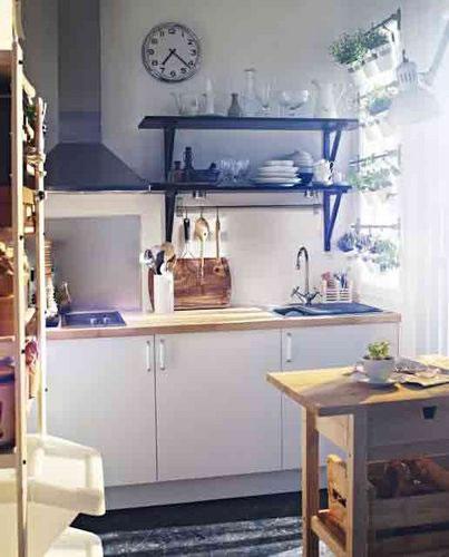consejos e ideas para una cocina peque a. Black Bedroom Furniture Sets. Home Design Ideas