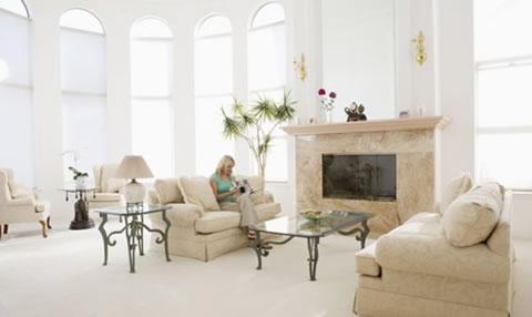 Decoraci n con blancos y beige - Decoracion de interiores en blanco ...