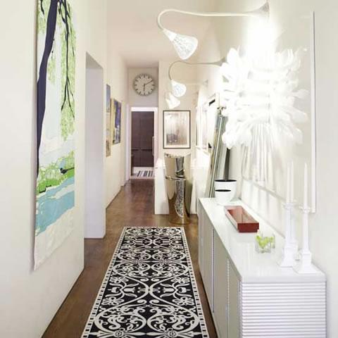 Ideas para un pasillo estrecho - Focos pasillo ...