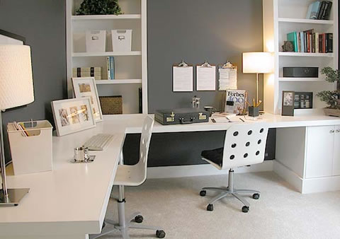 Ideas para decorar tu escritorio - Escritorio pared ...