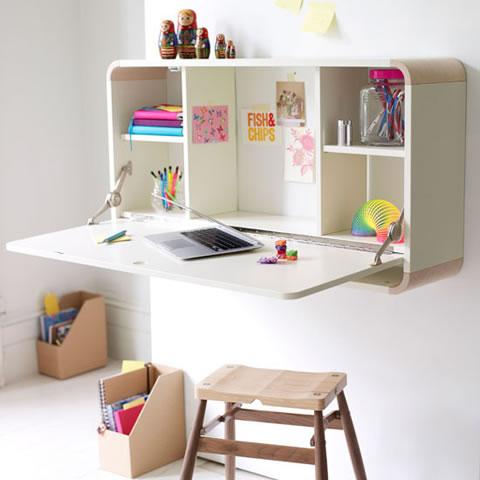 Originales escritorios para los mas peque os for Escritorios para espacios pequenos