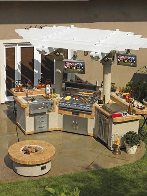 10 ideas para cocinas de exterior for Cocinas rusticas para exteriores