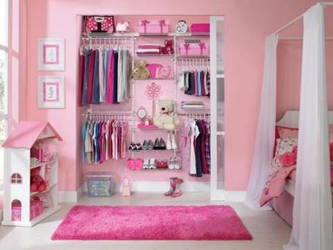 Armarios y vestidores rosas para peque as - Vestidores para dormitorios ...