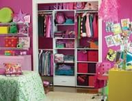 imagen Armarios y vestidores rosa para pequeñas