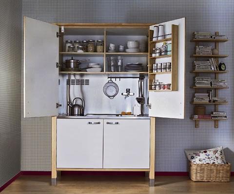 mini cocinas para poco espacio 2 - Mini Cocinas