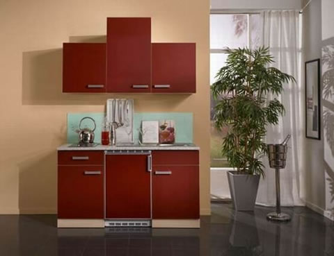 Mini cocinas para espacios muy peque os for Modelos de cocinas en espacios pequenos