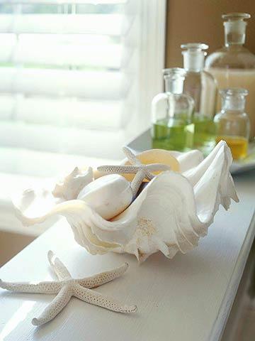 decorar con caracoles y conchas de mar 14