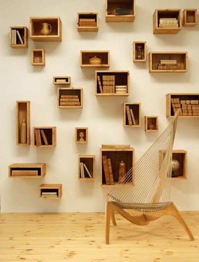 Elige originales estanter as para decorar - Estanterias originales de pared ...