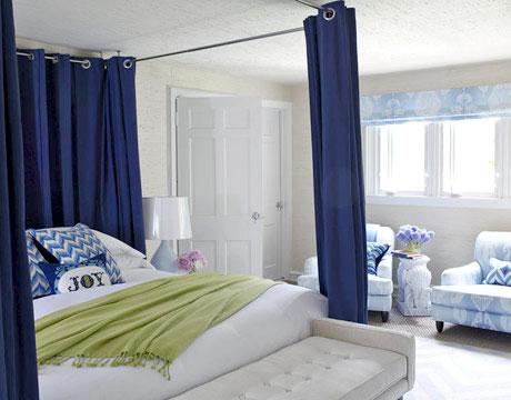 Habitaciones en celeste y azul for Cuartos decorados azul