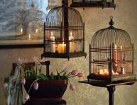 imagen Decorar con jaulas para pájaros