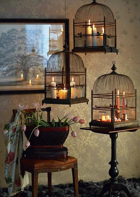 Decorar con jaulas para p jaros - Decoracion con jaulas ...