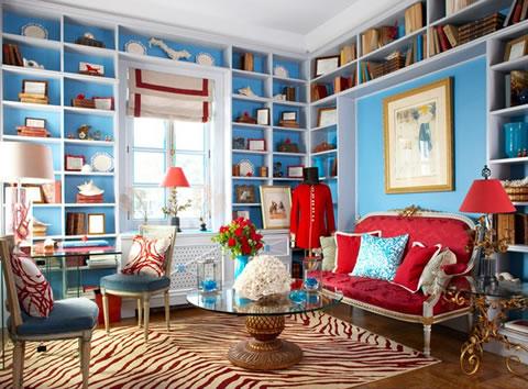 Ideas y detalles en rojo y turquesa - Combinar color turquesa decoracion ...