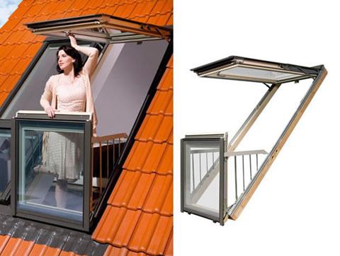 Ventanas balcon de Fakro para espacios reducidos 6