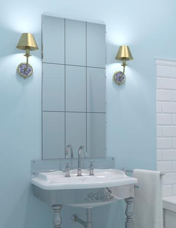 Cambiar el espejo del cuarto de ba o - Espejos biselados para banos ...