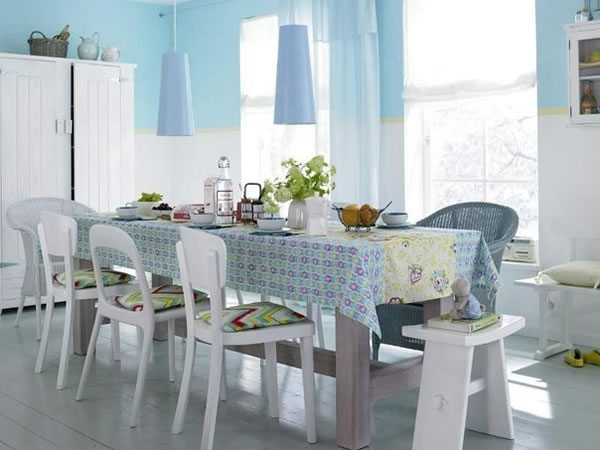 Comedor 8 ideas a todo color for Comedores en gris y blanco