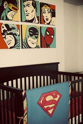 Habitación con comics vintage 2