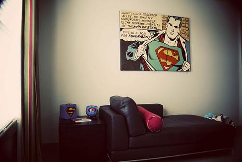 Habitación con comics vintage 6