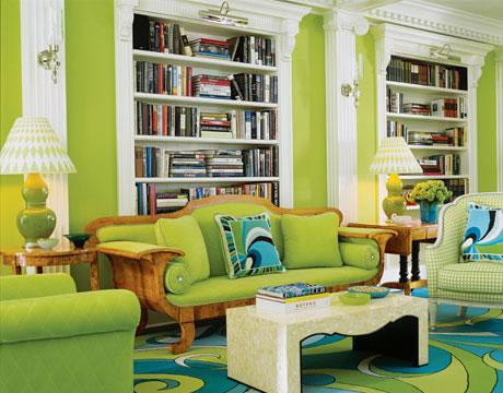 Color verde para la sala 3