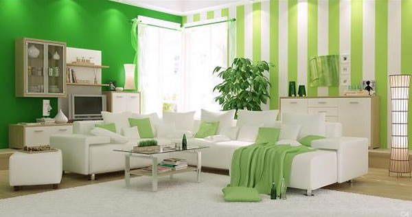 El color verde para la sala for Room design 4x4