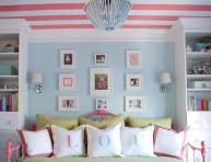 imagen Habitación para niñas con cielorraso a rayas