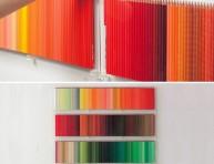 imagen Mural con lápices de colores para la sala
