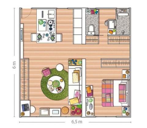 Pequeño departamento de 40 m2 0