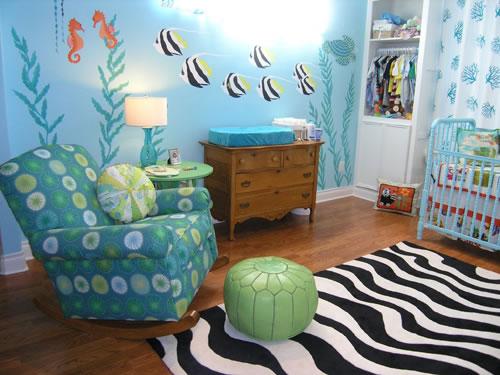 Una habitaci n bajo el mar para beb s for 6 cuartos decorados con estilo
