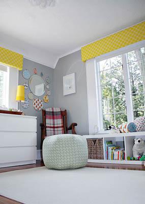 Habitación para bebés con detalles retro 10