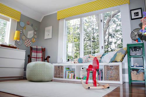 Habitación para bebés con detalles retro 4