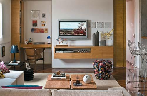 decoracao de interiores para ambientes pequenos : decoracao de interiores para ambientes pequenos:Prefiere el uso de muebles suspendidos ya que de esta manera se