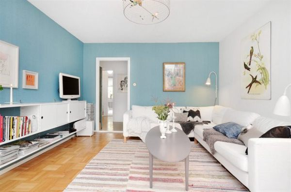 Apartamento vintage en estocolmo for Casas pintadas interior colores