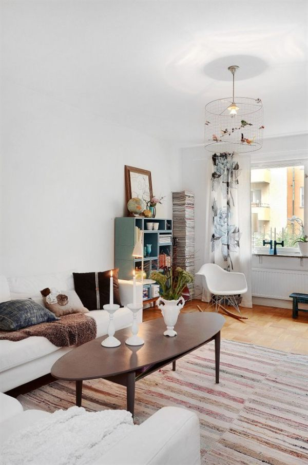 Apartamento vintage en estocolmo - Lampara estanteria ...