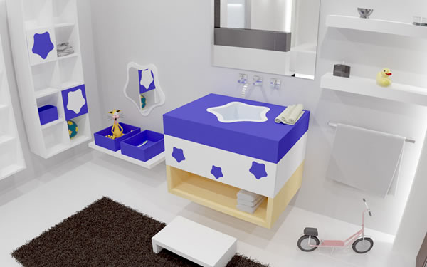 Baños Ninos Pequenos:Unisex Kids Bathroom Decor Ideas